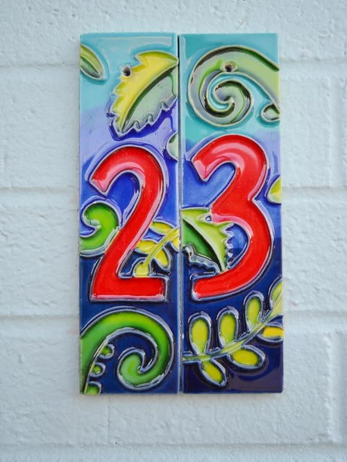 Tile House Numbers Home Design Ideas Pictures Remodel