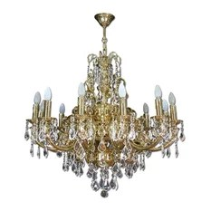 Klobe Fantasy 12 Light Brass Chandelier Bright Nickel Chandeliers