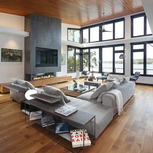houzz living room paint ideas decor 75 most popular contemporary family design for 2019 example of a trendy open concept medium tone wood floor in milwaukee with