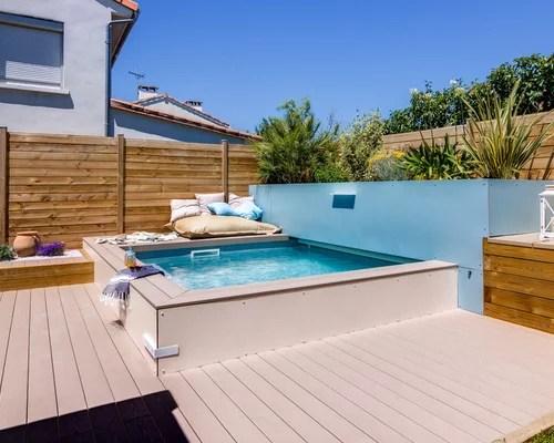 Inspiration Pour Une Petite Piscine Sur Une Terrasse En Bois Hors Sol Design Sur Mesure