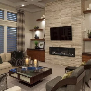 ideas for small living rooms a room 75 most popular contemporary design 2019 example of trendy formal carpeted in omaha with ribbon fireplace