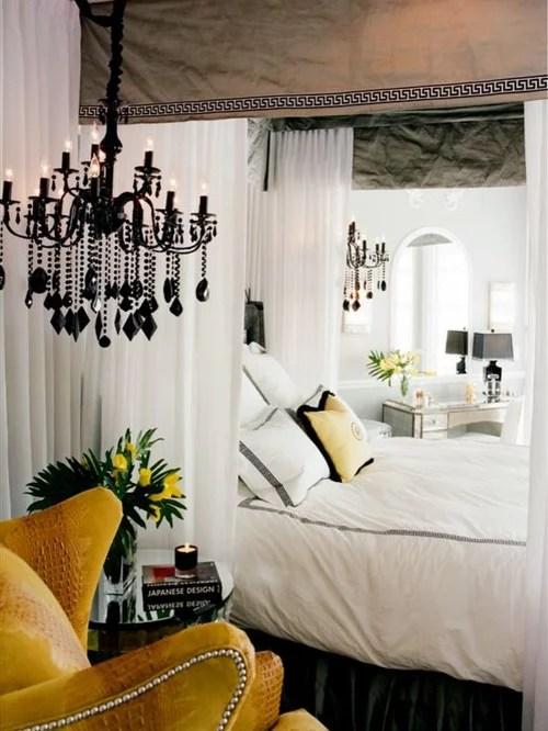 Romantic Yellow Bedroom Houzz