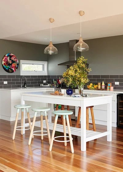 kitchen island bench dish rack 50 inspiring benches and stools houzz transitional by siobhan donoghue design