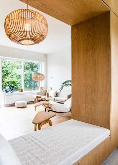 Scandinavian Family Room by Lise Balsby Fotograf