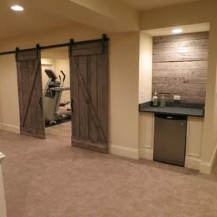 75 Rustic Basement Design Ideas Stylish Rustic Basement