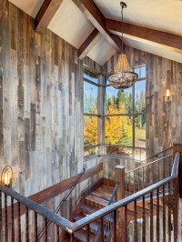Reclaimed Barnwood Ceiling Staircase Design Ideas ...