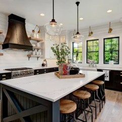 Kitchen Black Cabinets Wall Tile 75 Most Popular With Design Ideas For 2019 Farmhouse Designs Example Of A Country L Shaped Medium Tone Wood Floor And