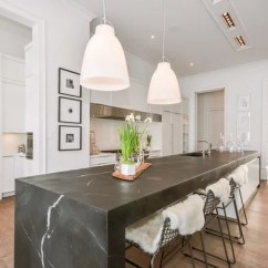 Soapstone Kitchen Countertops Discount Cabinets Las Vegas Waterfall Countertop | Houzz