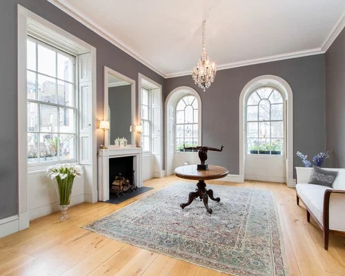 Gray Wall White Trim Home Design Ideas, Pictures, Remodel