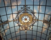 Hand Painted Wrought Iron Decorative Art in Ceiling and ...
