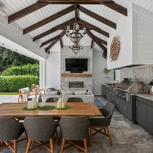 patio kitchen building an outdoor 75 most popular design ideas for 2019 stylish beach style idea in orlando with a roof extension