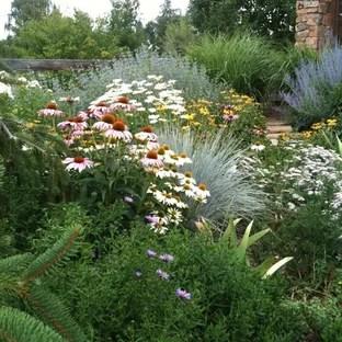 built flower bed