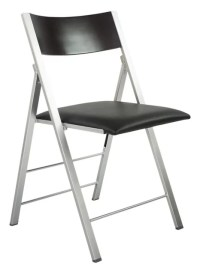 Black Cushioned Folding Chair. amazing marquee padded ...