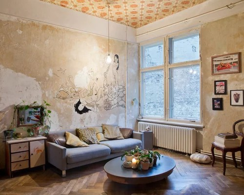 ShabbyChicStyle Wohnzimmer Ideen Design  Bilder  Houzz