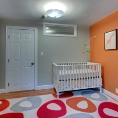 White Tile Floors In Living Room Fabric Furniture Grey And Orange | Houzz