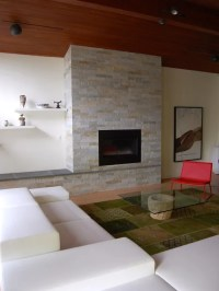 Fireplace Without Mantle | Houzz