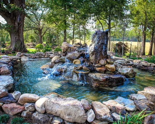 rock water feature home design
