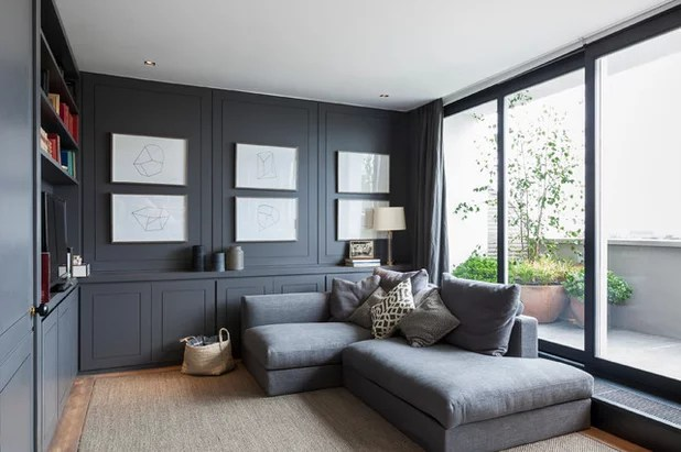 low ceiling living room design ideas black and white rooms embrace your with one of these clever tricks contemporary by nathalie priem photography