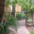 narrow side yard - tropical landscape