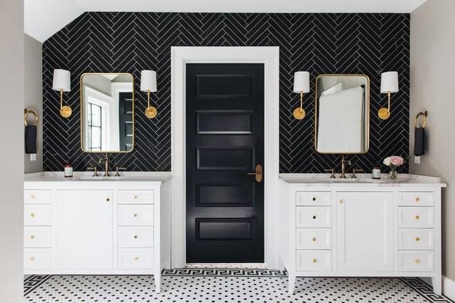 Midcentury Bathroom by Kenowa Builders