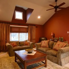 Traditional Living Room Ideas With Fireplace And Tv Arranging Small Dark Red Walls | Houzz