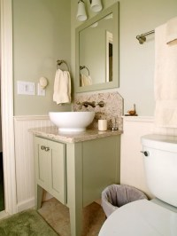 Painted Shaker Bathroom Cabinet and Linen Cabinet