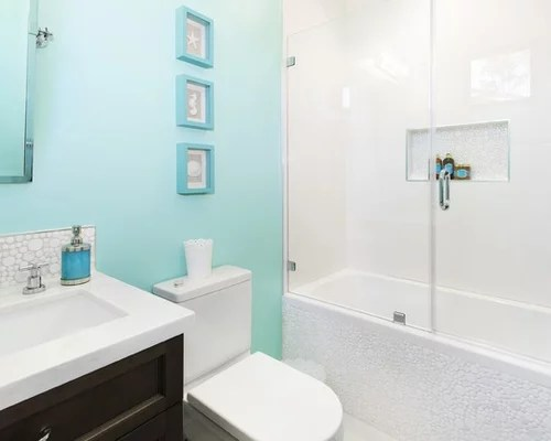 Blue And White Bathroom Home Design Ideas Pictures
