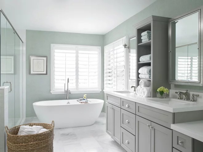 Transitional Bathroom by Krista + Home