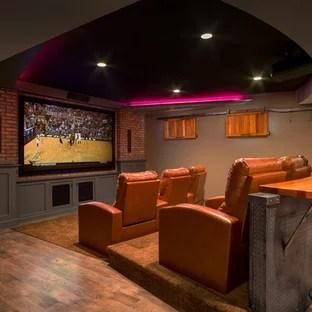 Basement Home Theater  Houzz