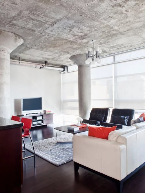 Exposed Concrete Ceiling  Houzz