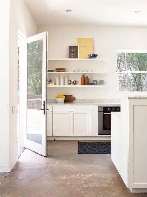 Farmhouse Kitchen With Concrete Countertops Design Ideas