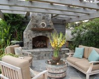 Double Sided Outdoor Fireplace | Houzz