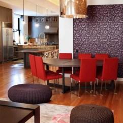 Trendy Kitchen Wallpaper Lighting Fixtures Dining Room Combination   Houzz