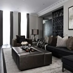 Black Sofa Living Room Images Serta Charleston Convertible Lounger Reviews Ideas And Photos Houzz Photo Of A Contemporary Formal In London With Beige Walls Dark Hardwood Flooring