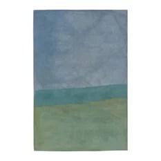 Trans-Ocean Inc Piazza 8'x10' Light Blue Rug