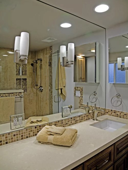 gray wood tile floor living room best sectional sofa for small mirror wtih electrical outlet   houzz