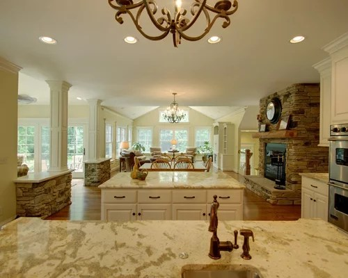Open Kitchen And Family Room Home Design Ideas Pictures Remodel and Decor