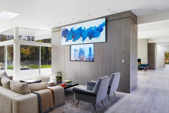 Midcentury Living Room by Ampersand Architecture