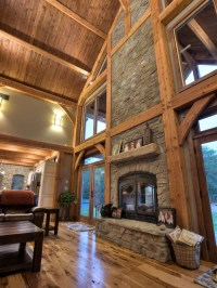 Indoor/Outdoor See-Through Wood Burning Fireplaces