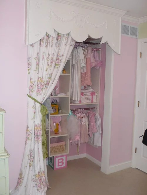 Wallpaper For Little Girl Room Little Girls Closet Houzz
