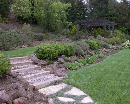 two tiered backyard home design