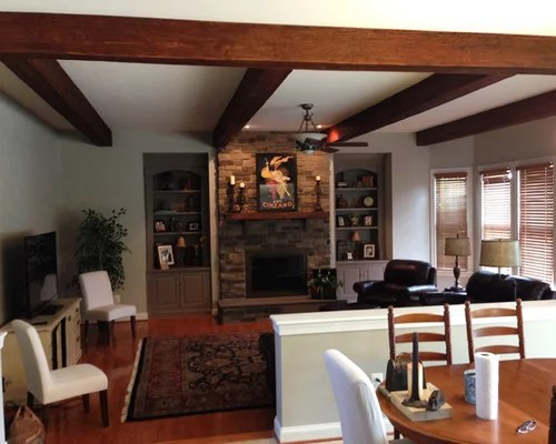 Living Rooms with Faux Wood Beams