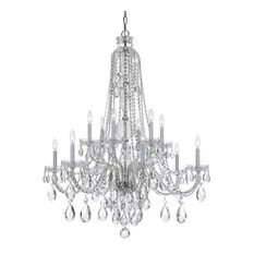 Crystorama Lighting Crystal 12 Lt Clear Swarovski Strass Chrome Chandelier I Chandeliers
