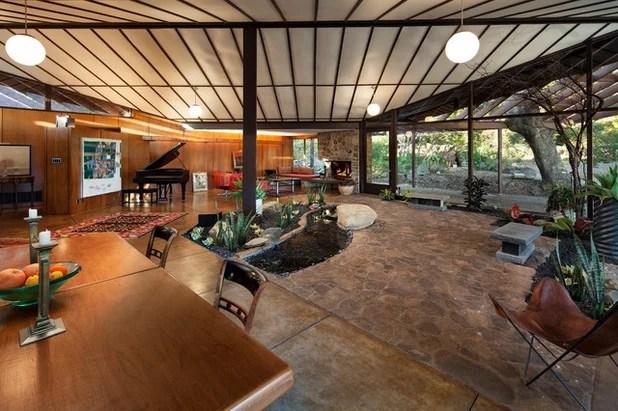 Midcentury Living Room by Allen Construction