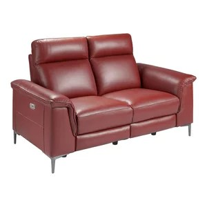 houzz leather sofa living room 3 pc set 2018 coupon bordeaux with 2 recline settings seater spain