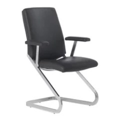 Office Chair Not On Wheels Best Lawn Recliner Without Chairs Houzz Black Mid Back