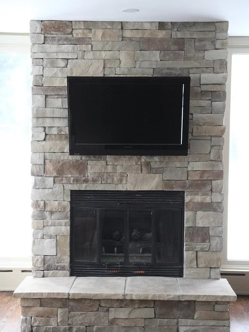 Natural Wood Mantels For Fireplaces Stone Fireplace Remodel | Houzz
