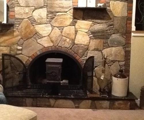 Fixing our Brady Bunch fireplace/wall