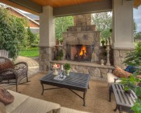 Covered Patios With Fireplaces Home Design Ideas, Pictures ...