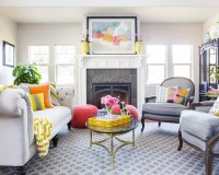 Neutral Living Room With Pops Of Color | Houzz